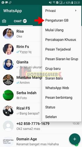 Cara update whatsapp gb