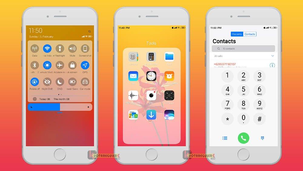 5+ Tema Xiaomi iOS MTZ Terbaru 2019 Keren 99% Mirip iPhone