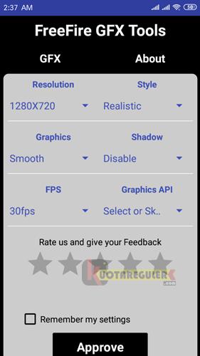 Cara Setting GFX Tool Free Fire Untuk HP RAM 1GB Agar Tidak