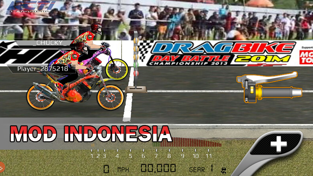 drag bike 201m mod indonesia gameplay