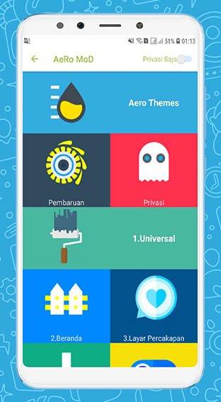 Download WhatsApp Aero 7 100 Anti-Ban APK Terbaru 2019