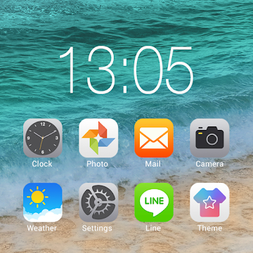 OS 11 Launcher Theme & Phone X style